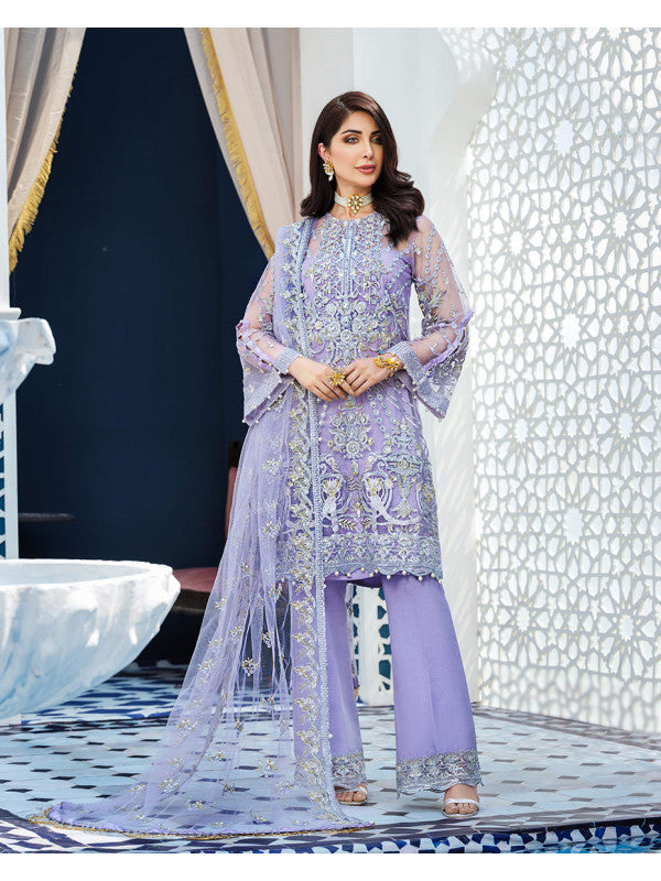 Aleah D-7 (3-Piece Embroidered Net Suit) | Gulaal | Adila Unstitched Luxury Formals