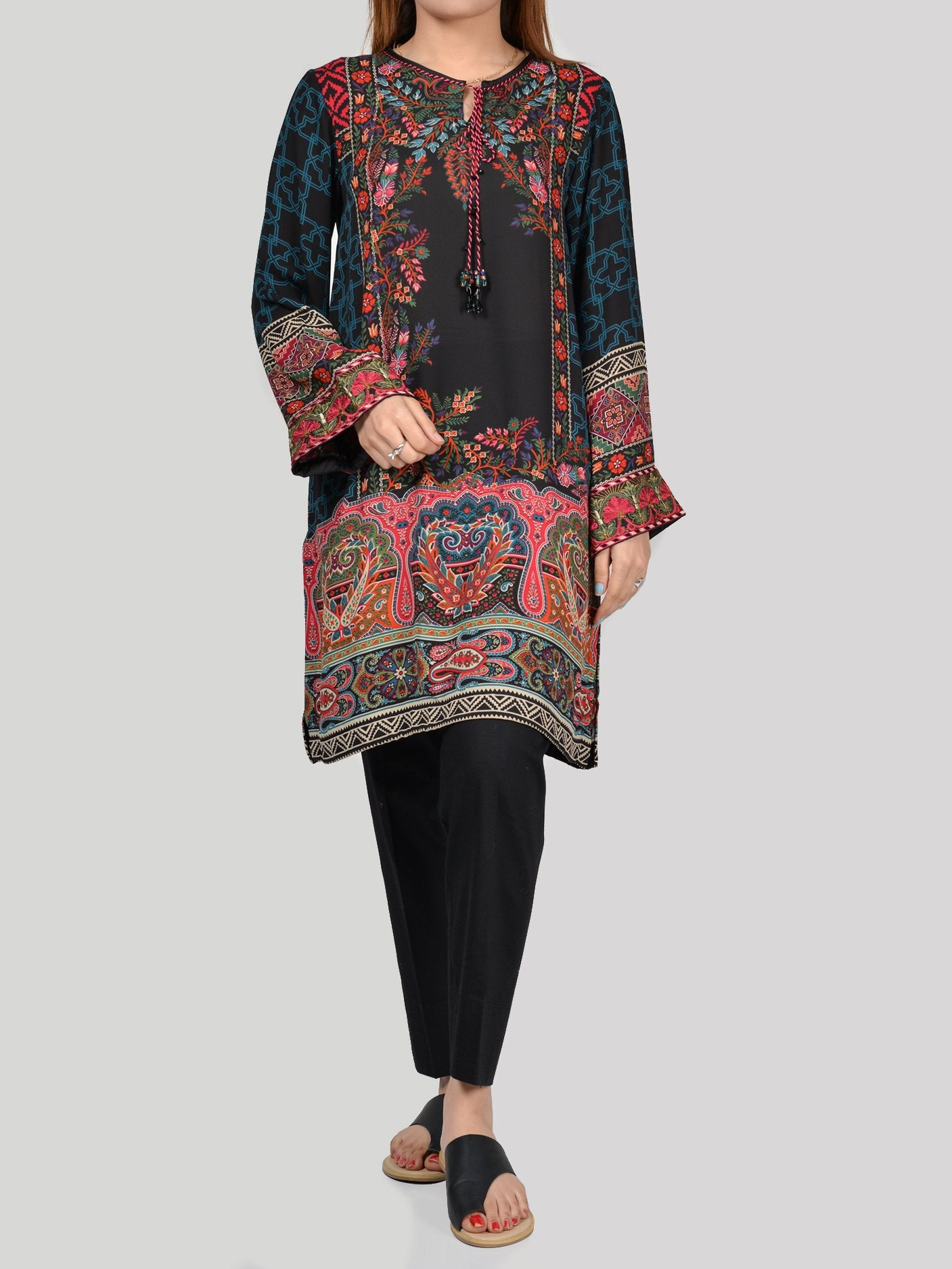 Embroidered Grip Shirt (P1005) by Limelight