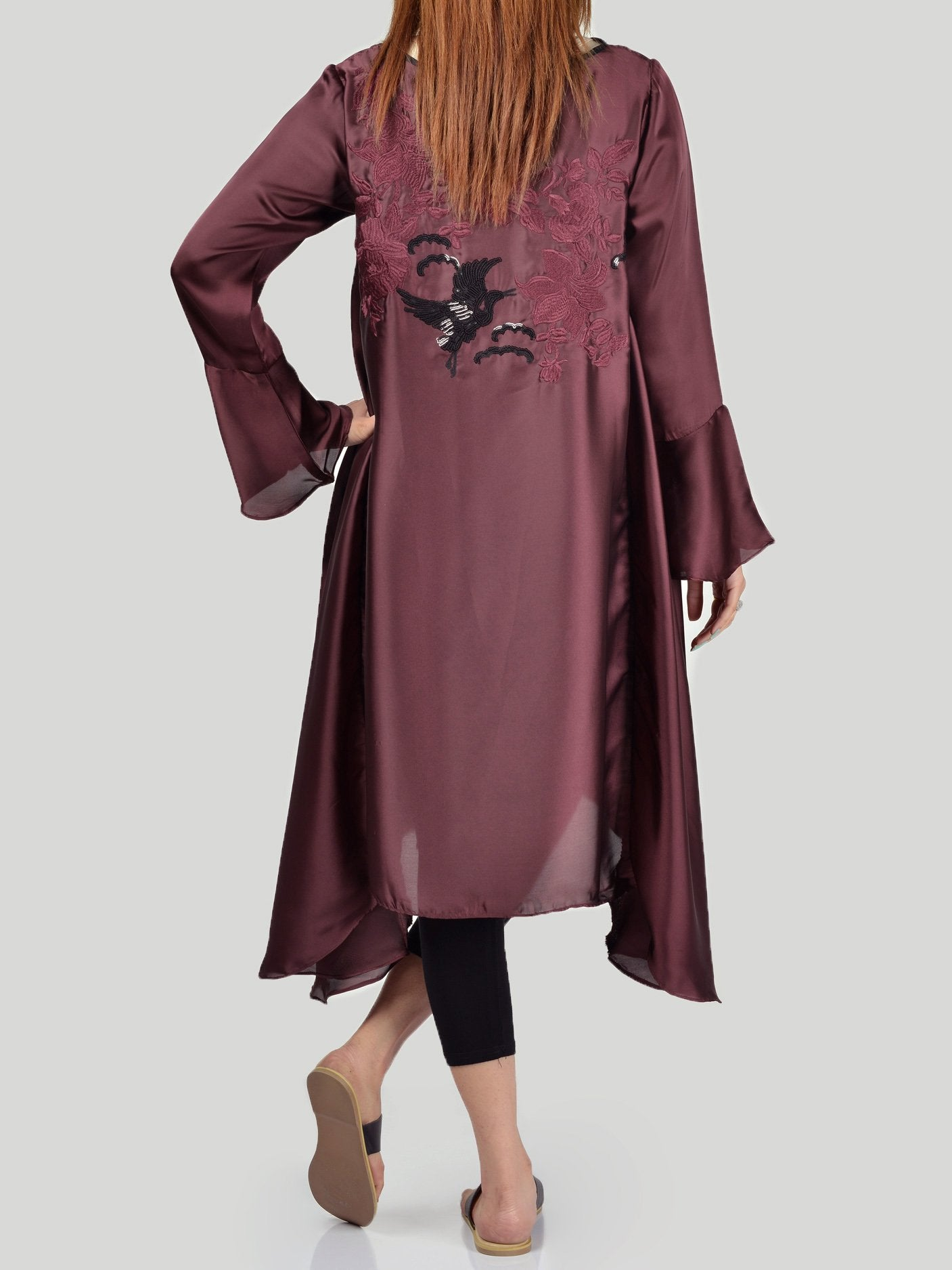 Embroidered Silk Shirt (F0673) by Limelight
