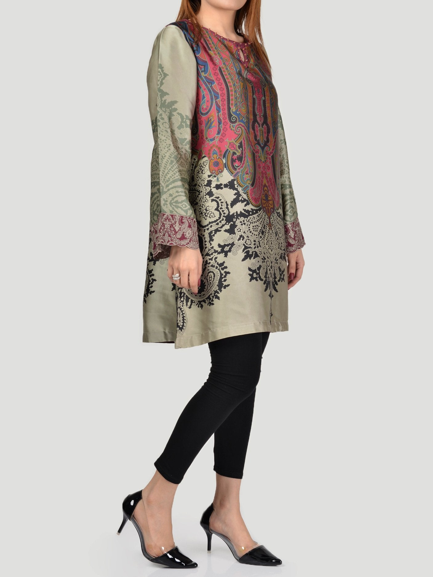 Embroidered Silk Shirt (F0189) by Limelight