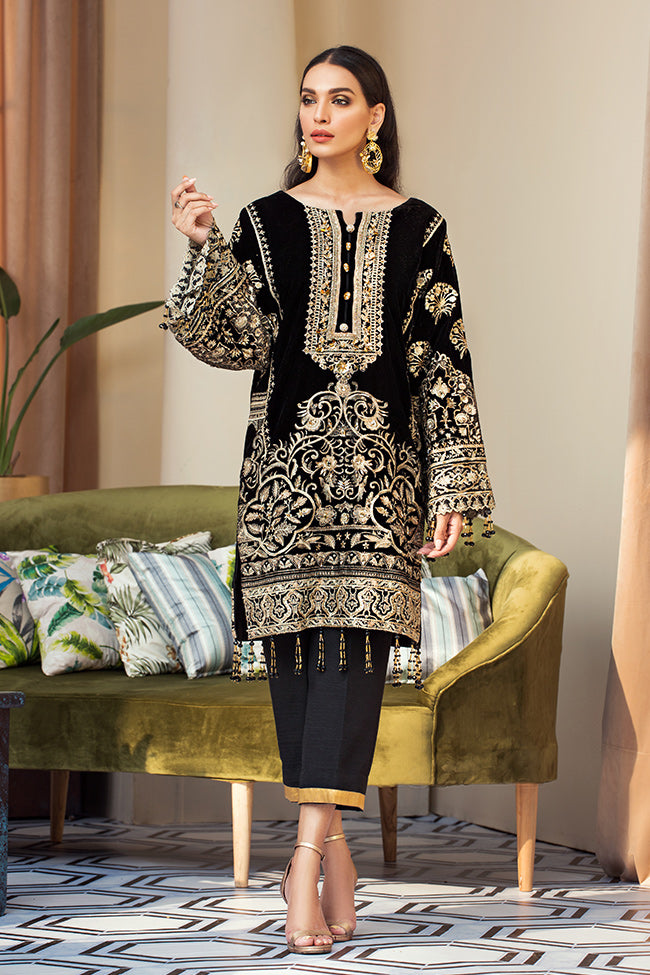 GV-01 Night Orchid [Black] (Gulaal - Velvet Wedding Collection)