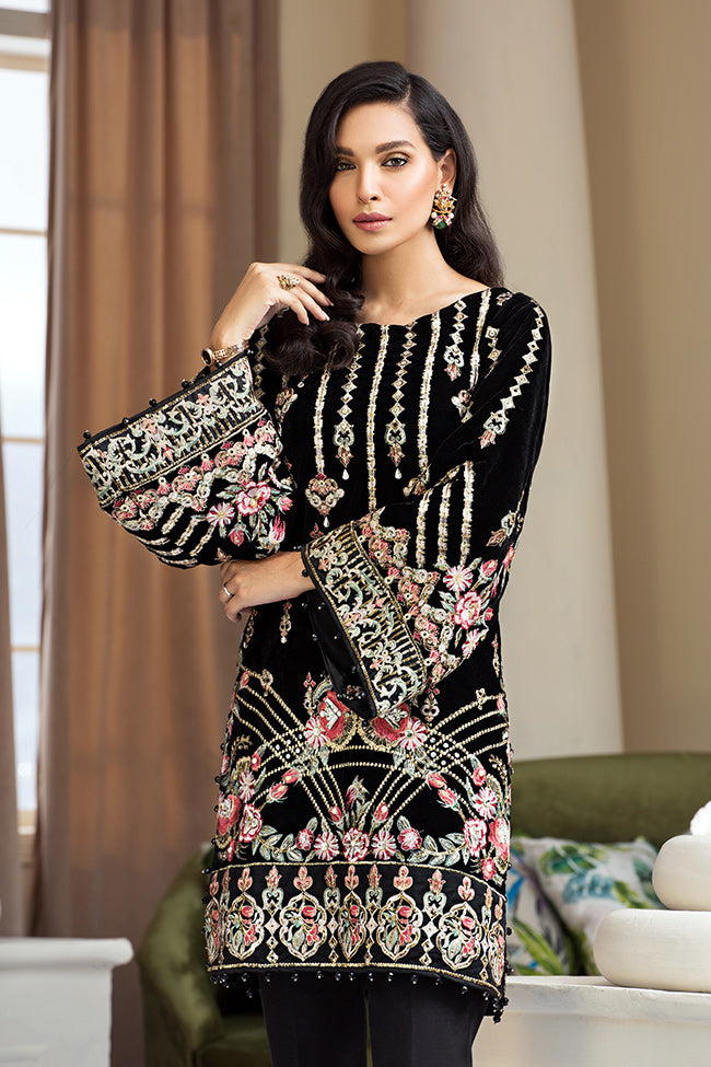 GV-05 Moonlit [Black] (Gulaal - Velvet Wedding Collection)