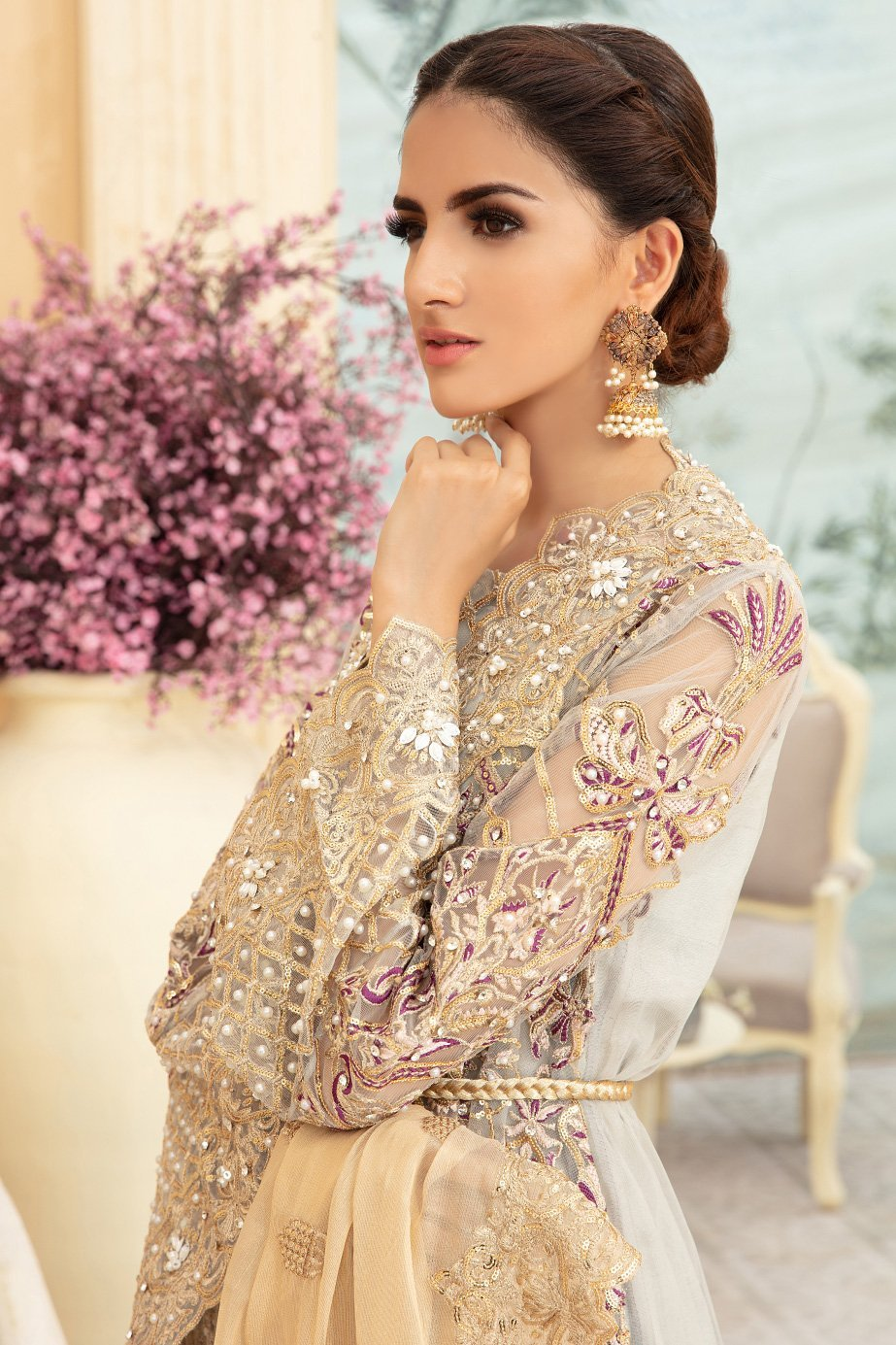 BLATIS GRIJ (MMD-04) | MARYUM N MARIA | CHIFFON COLLECTION