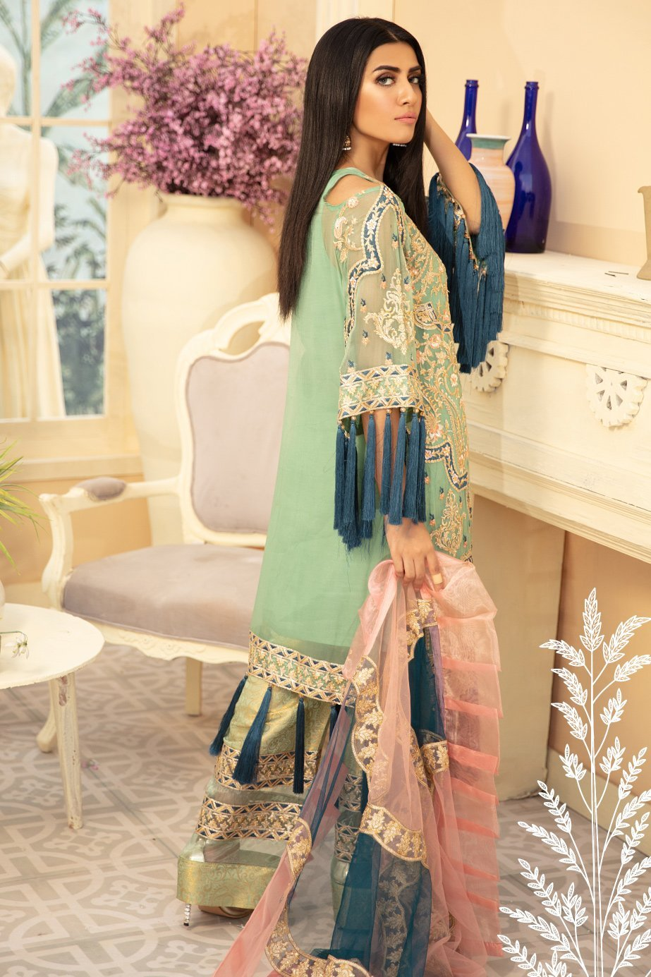 HENILLE JUSX (MMD-07) | MARYUM N MARIA | CHIFFON COLLECTION