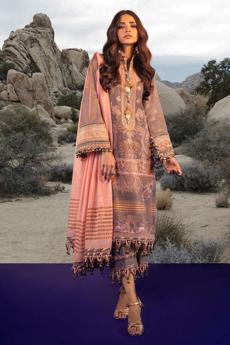 B201-002B-CU | Sana Safinaz | Karnool Block Print Collection'20