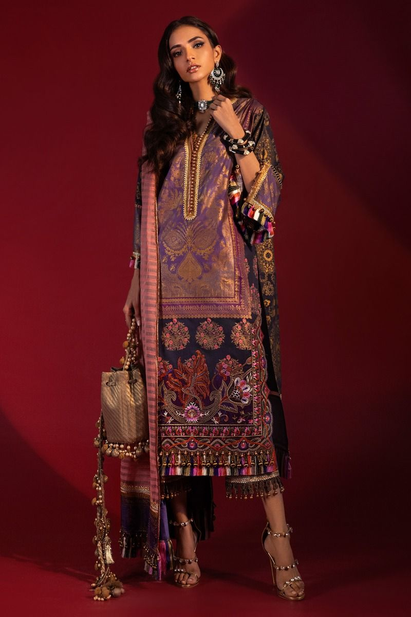 B201-004A-CU | Sana Safinaz | Karnool Block Print Collection'20