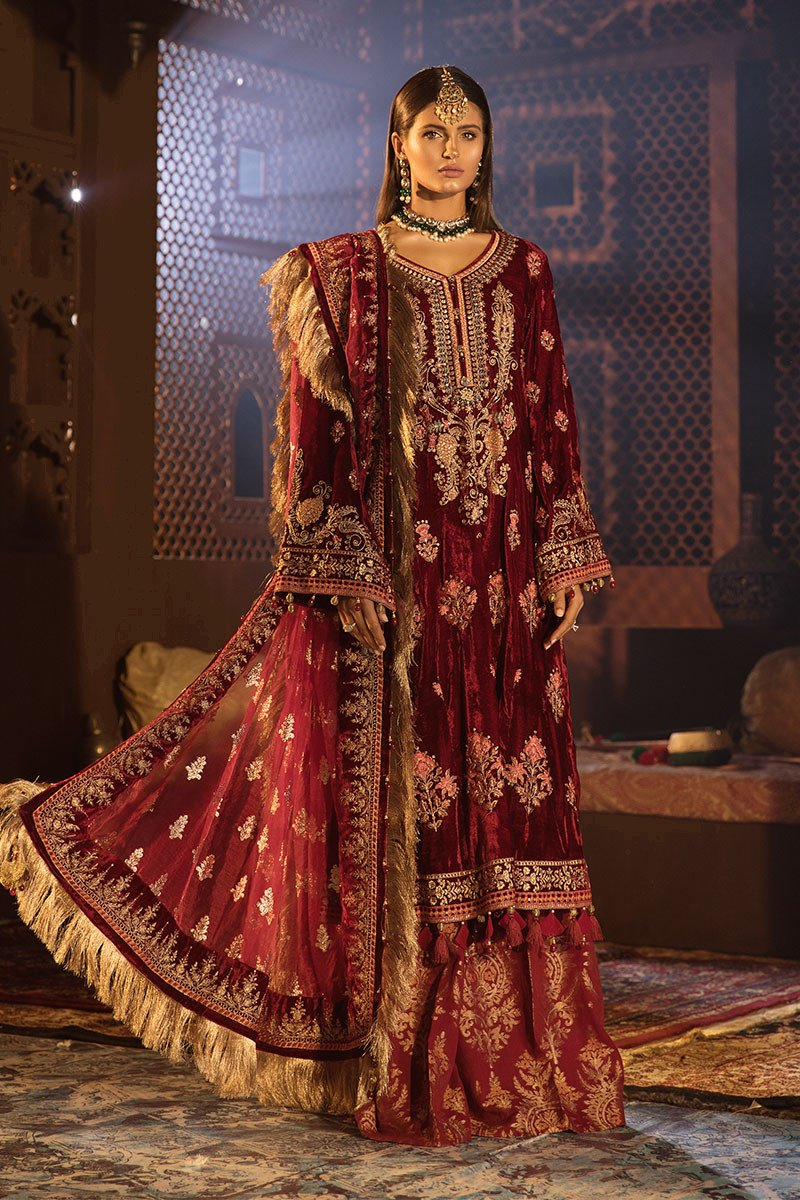 Anari Pink - BD 1807 (Maria B Unstitched Mbroidered - Wedding Edition)