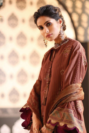 3 Piece Embroidered Suit with Fancy Dupatta [Alkaram Festive Vol. 2]