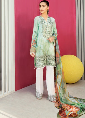 IFL - 02 Misty Jade (3Pc) [Iznik Festive Lawn Collection'19]