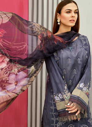 IFL - 03 Orion Blue (3Pc) [Iznik Festive Lawn Collection'19]