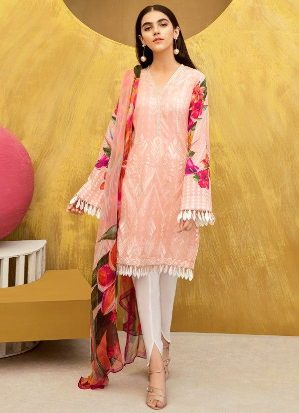 IFL - 07 Apricot Blush (3Pc) [Iznik Festive Lawn Collection'19]