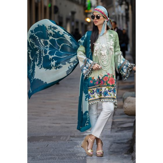 Oleandro 13-B (3Pc) Sana Safinaz Luxury Lawn