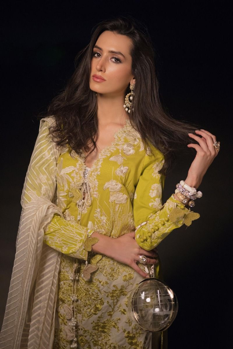 L201-010B-CJ (3Pcs) | Sana Safinaz | Luxury Lawn'20