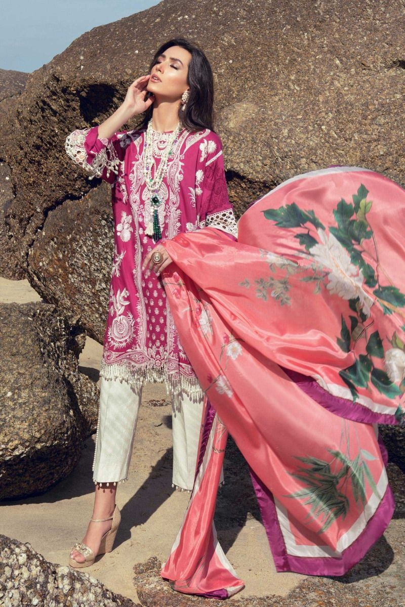 L201-014B-CL (3Pcs) | Sana Safinaz | Luxury Lawn'20
