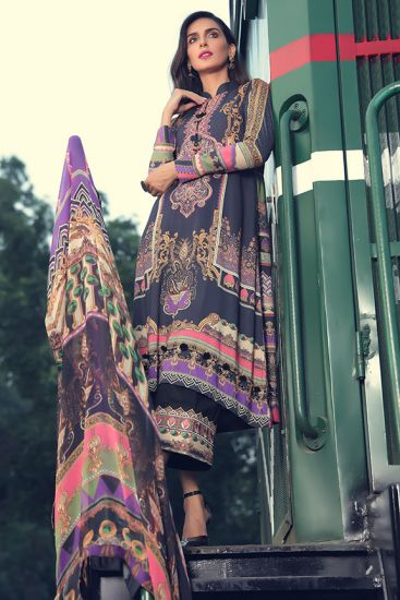 2381-Lush-Coal [Motifz Amal Linen Collection]