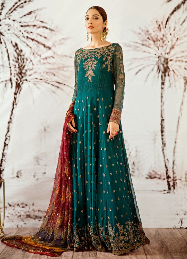 01 Cobalt Green (3PC) [Iznik - Opulent Chiffon Collection]