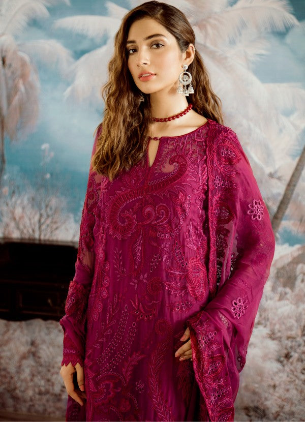 07 Carmine (3PC) [Iznik - Opulent Chiffon Collection]