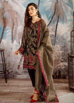 09 Night Fall (3PC) [Iznik - Opulent Chiffon Collection]