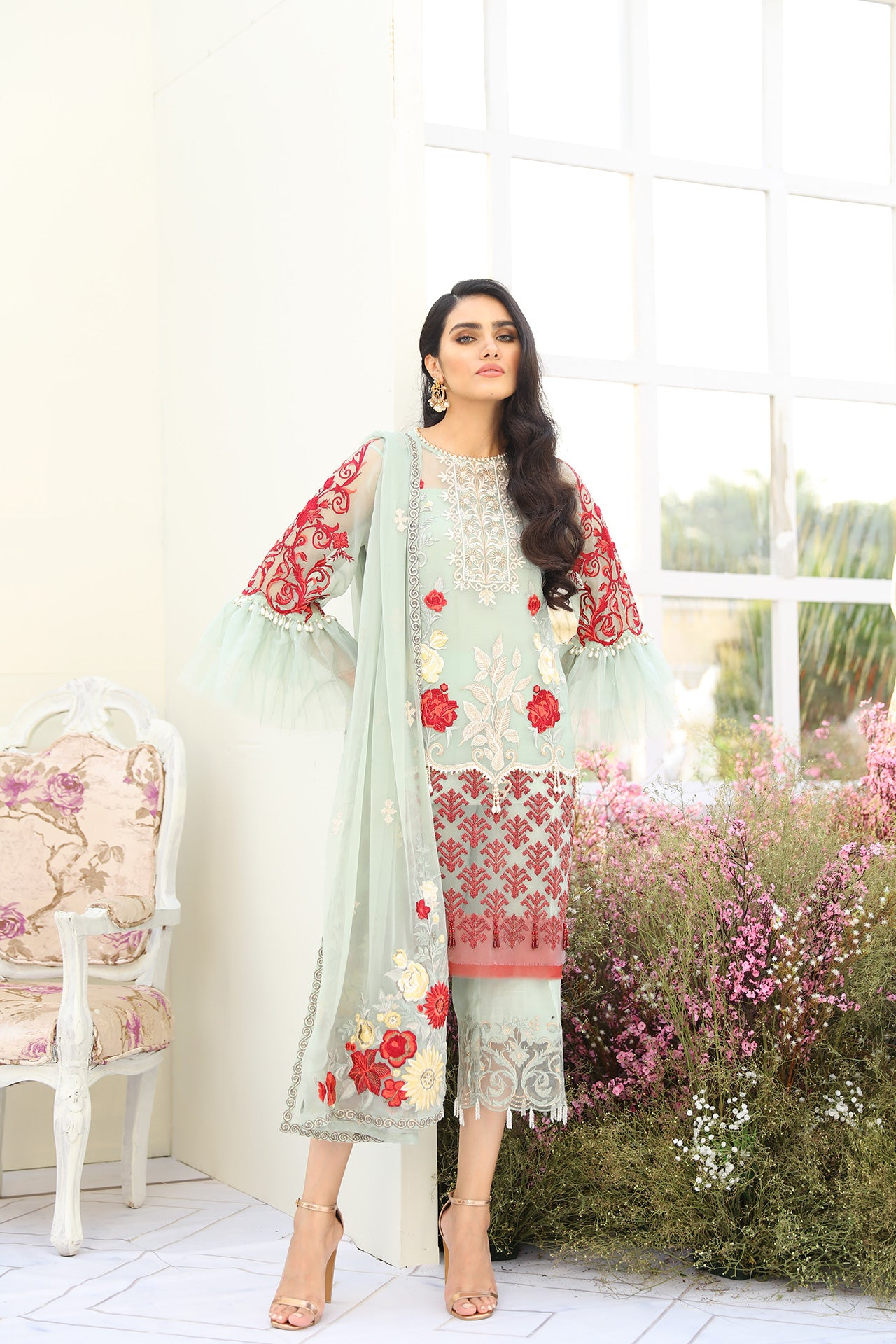 DELPHIC BLUES (Coir - Luxury Chiffon Collection Volume - V)
