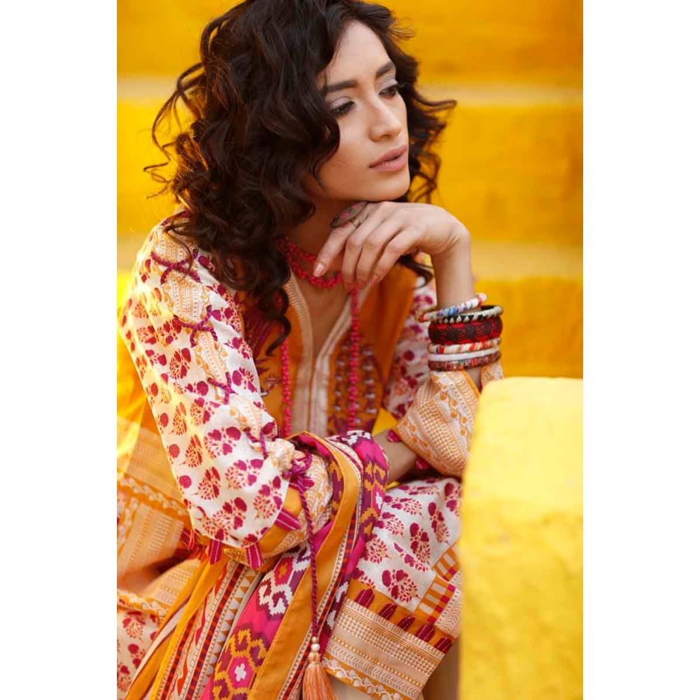2 PC Lawn Shirt & Dupatta GT-13 A