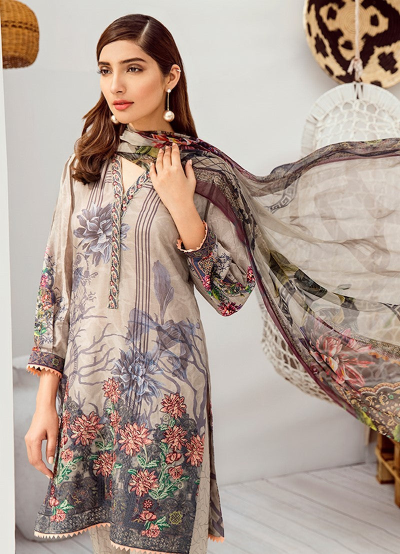 ICL -02 Earl Grey (3PC) [Iznik Chinon Lawn Vol 3]