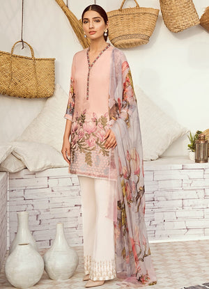 ICL -12 Misty Rose (3PC) [Iznik Chinon Lawn Vol 3]