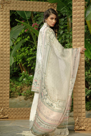 7B Mint Greenish Grey - Zarqash Lawn 2019