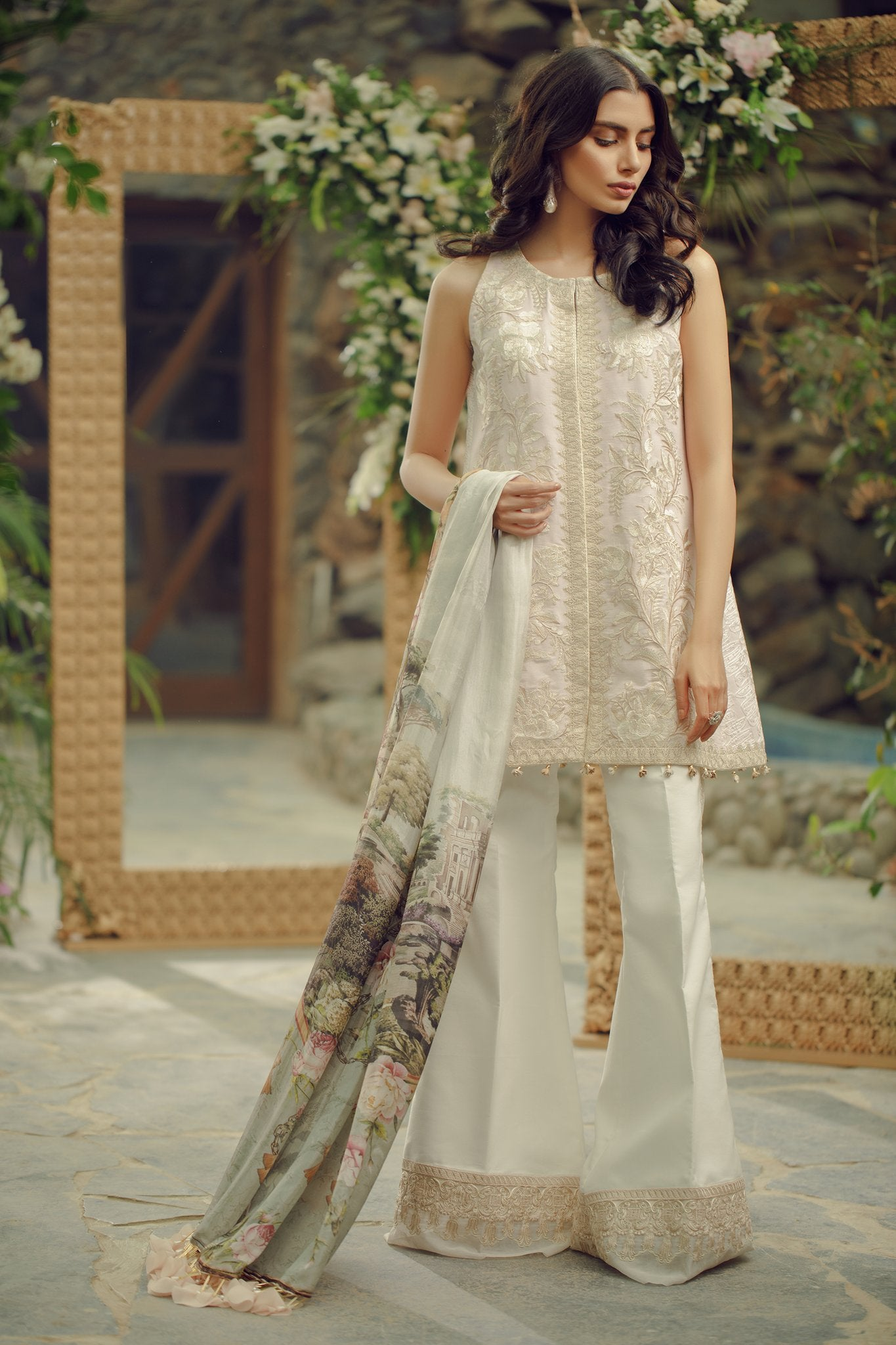 1B Pink Powder - Zarqash Lawn 2019