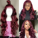 Reddish 360 Lace Frontal Wig  Pre Plucked Baby Hair Brazilian Lace Front Human Hair Wigs