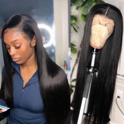 Lace Front Wig Silky Straight 100% Virgin Human Hair