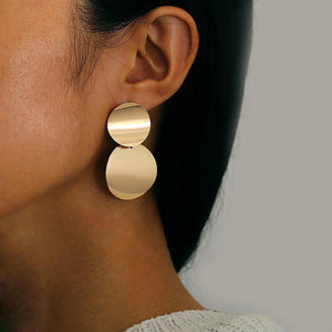 Arealook Fashion   Exaggerated Big Brand Alloy Simple Earrings Female