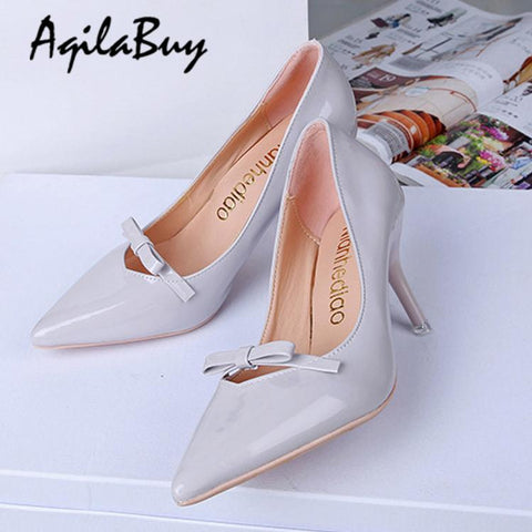 Bow-Knot Elegant Style Pointed Toe Shoes
