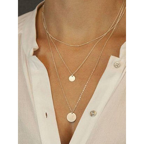 Arealook Simple Sequined Mmulti-Layer Suit Necklace