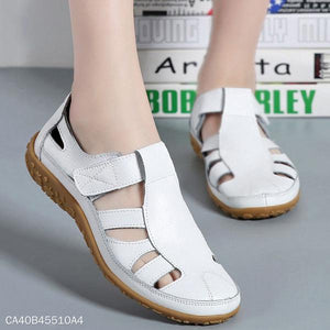 Handmade Vintage Leather Sandals Casual Women's Shoes