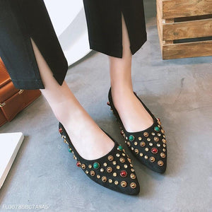 Metal Temperament Rivet Women's Shoes
