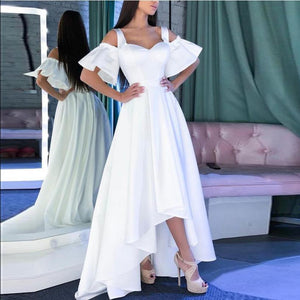 Solid Off-The-Shoulder Elegant Dress