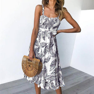 Sexy Fashion Sling Print Dress