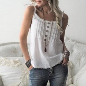 Strap Sexy Buttoned Casual Comfort Vest Top