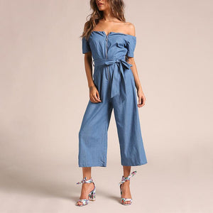 Casual One Shoulder Jumpsuit