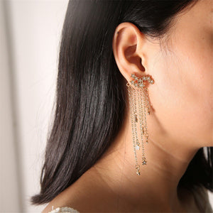 JOJORUBY Shining Star Tassel Earrings