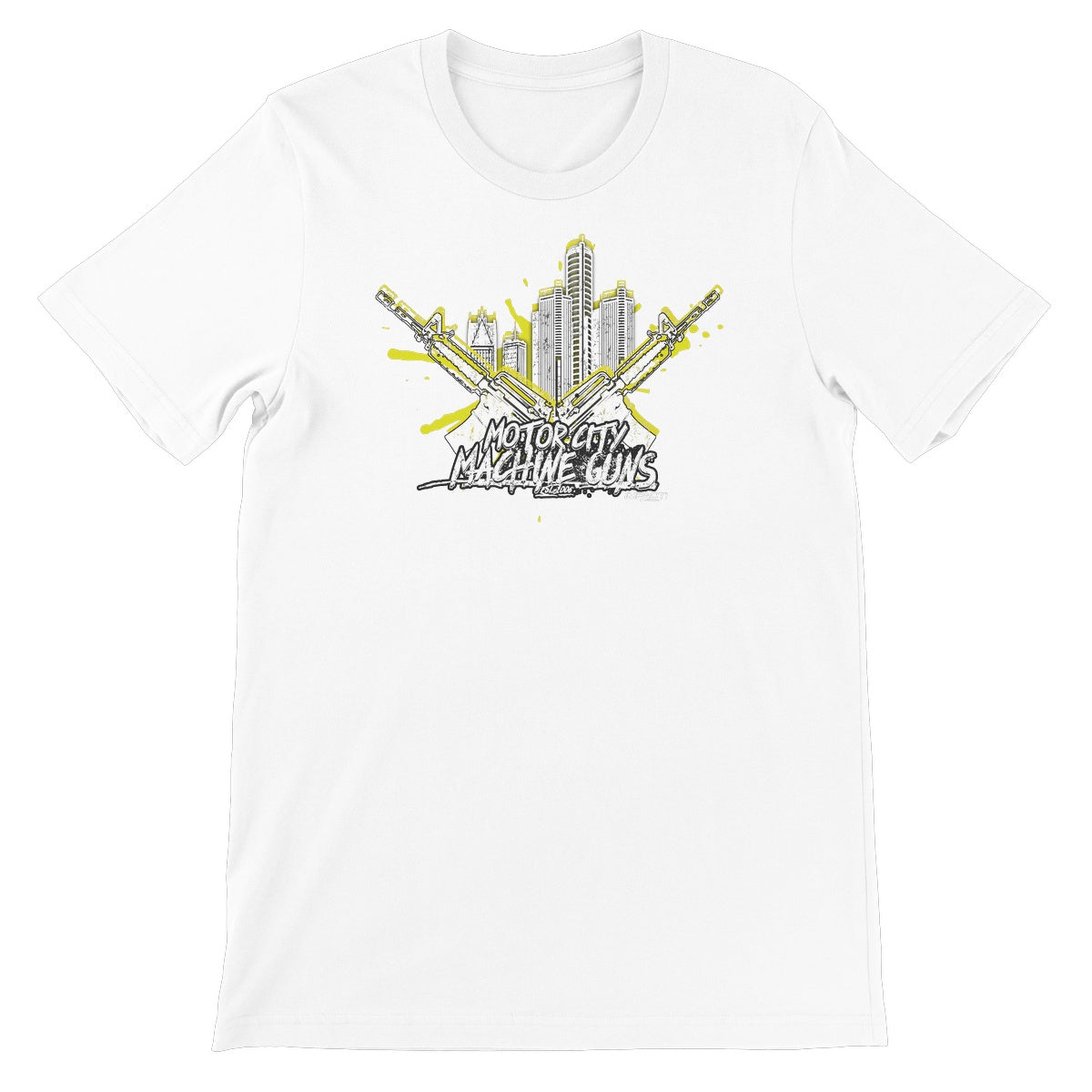 Motor City Machine Guns - Detroit City Heat Unisex Short Sleeve T-Shirt