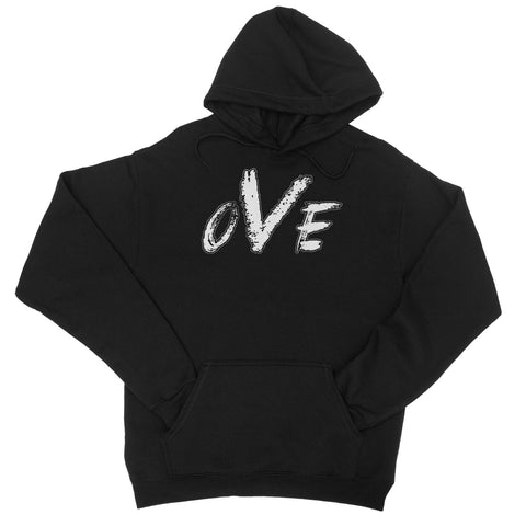 OVE White Logo College Hoodie