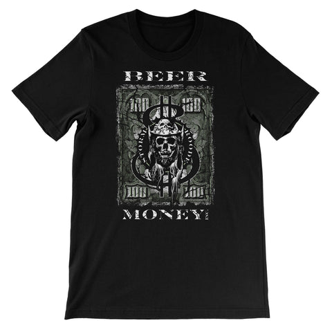 Beer Money Pints, Pounds, Drink & Rich Tour Unisex Short Sleeve T-Shirt