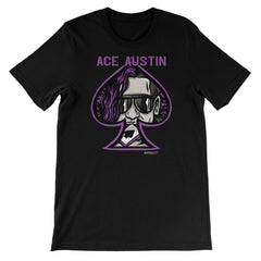 Ace Austin In Spade Unisex Short Sleeve T-Shirt