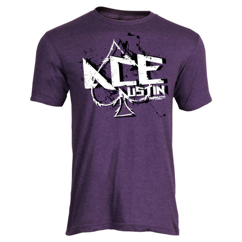 Ace Austin Short Sleeve Tee - Heather Purple