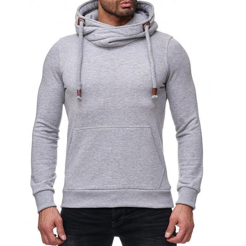 Solid Color Heap Collar Hoodie