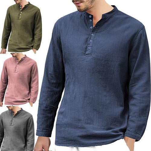 Casual Collar   Loose Shirt Long-Sleeved Shirts