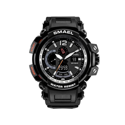 Waterproof and shockproof multi-function sports hand electronic watch male