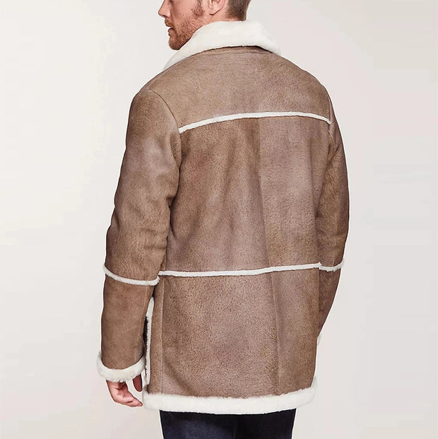 Fashion Men's Suede Fur Coat