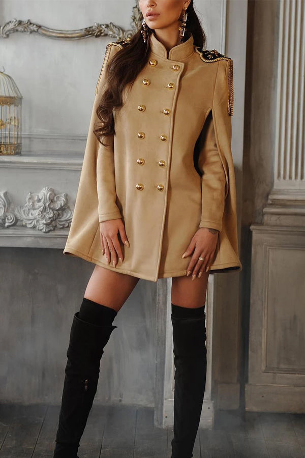 Atpinko Double-breasted cloak Military coat
